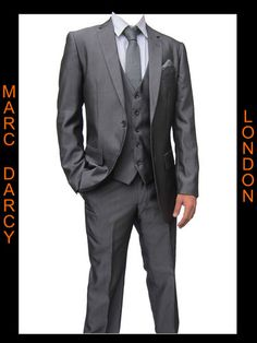 MENS MID GREY 3PC SUITS IDEAL FOR WEDDINGS, SCHOOL PROMS,OFFICE WEAR ALL SIZES