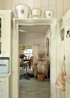 Love the idea of an above door shelf to add all my farmhouse decor items!