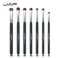 JAF Brand Classic 7pcs Brushes for Makeup 100% Natural Animal Horse Pony Hair Eye Makeup Brush Set 4193