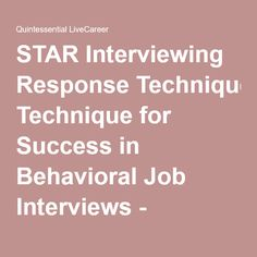 star interviewing technique