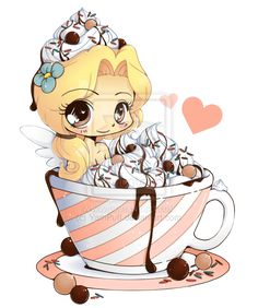 Hot Cocoa Emiko - Chibi Commission by YamPuff.deviantart.com on @deviantART