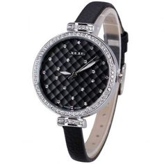 $20.95 Julius Superb Quartz Watch with Diamonds Analog Indicate and Genuine Leather Watchband for Women