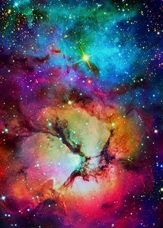 Trifid Nebula, NGC | http://exploringuniversecollections.blogspot.com