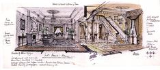 Concept design renderings for Mary Poppins 1964.
