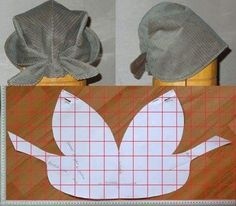 The best DIY projects & DIY ideas and tutorials: sewing, paper craft, DIY. DIY Women's Clothing : modello e schema taglio per cucire bandana cappellino vintage -ReadVintage sewing template: Italian pattern for Bandana Vintage, a style kerchief hat wi Doll Patterns, Clothing Patterns, Sewing Patterns, Sewing Tutorials, Sewing Crafts, Sewing Projects, Diy Crafts, Sewing Clothes, Diy Clothes