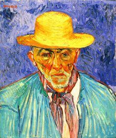 Vincent van Gogh Portrait of a Peasant (Patience Escalier), Arles, August on canvas, 25 x 21 ½ inches, Norton Simon Art Foundation Vincent Van Gogh, Van Gogh Drawings, Van Gogh Paintings, Claude Monet, Desenhos Van Gogh, Escalier Art, Van Gogh Arte, Van Gogh Pinturas, Van Gogh Portraits
