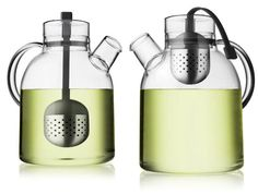 Teapot. I like glass kitchen items that look like something from a chemistry lab.  Tea Kettle by NORM Architects, $79.
