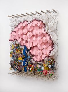 Jacob Hashimoto, Unmeasured Existence and Wilder Human Passions, 2012, bamboo, paper, dacron, acrylic, 92cm x 72cm x 20cm.