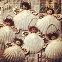 Seashell angel ornament crafts will prob never make, but who know