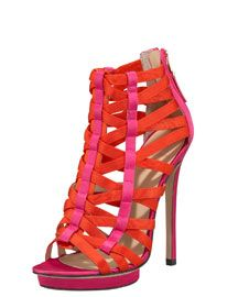 B Brian Atwood Strappy Cage Sandal.
