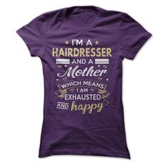 Best Hairdresser And Mother T Shirts, Hoodies. Check price ==► https://www.sunfrog.com/Jobs/Best-Hairdresser-And-Mother-Purple-Ladies.html?41382