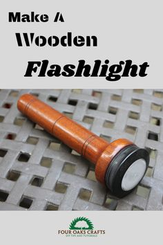 This video shows how to make a wooden flashlight on the wood lathe. It's a great weekend project and these make excellent gifts or items to sell at craft shows.