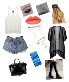 """""""Untitled #16"""" by jaysen-martin on Polyvore featuring beauty, Wet Seal, Maxima, Uncommon, Valentino, Givenchy and Johnny Loves Rosie"""