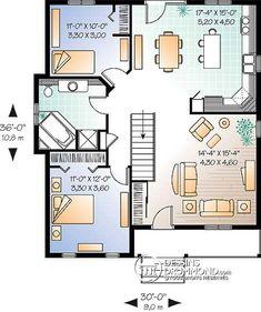 Détail du plan de Maison unifamiliale W2171