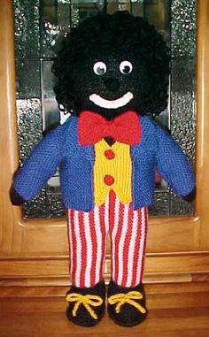 knitted golliwog pattern – Knitting Tips Animal Knitting Patterns, Doll Patterns, Knit Patterns, Knitting Paterns, Knitting For Charity, Free Knitting, Baby Knitting, Knitted Dolls, Crochet Toys