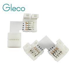 5 unids 4 pin LED Conector en Forma de L Para conectar la esquina en ángulo recto 10mm 5050 Luz de Tira de LED RGB Color