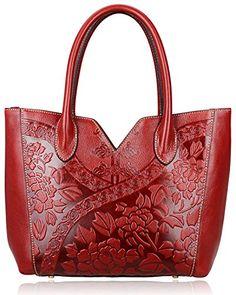 Pijushi Ladies Floral Leather Tote Shoulder Handbags