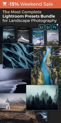 Create truly memorable landscape, travel and aerial photos in Adobe Lightroom for Desktop & Mobile. A total of 216 presets with a shop value of $205! Included in the Shop Bundle: Dark & Dramatic Lightroom Presets, Signature Lightroom Presets for Moody Landscapes, Aerial & Drone Lightroom Presets and Black & White Lightroom Presets ... plus all future product releases!