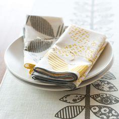 Sun Patterned Cloth Napkins | Dot & Bo