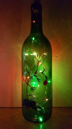 Wine Bottle Crafts – Make the Best Use of Your Wine Bottles – Drinks Paradise Empty Wine Bottles, Wine Bottle Corks, Glass Bottle Crafts, Painted Wine Bottles, Lighted Wine Bottles, Bottle Lights, Painted Wine Glasses, Wine Bottle Centerpieces, Vases