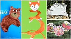 Woodland Paper Plate Animals