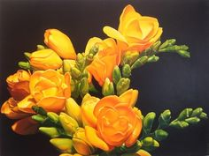 Amber Emm Artworks Available At Black Door Gallery. Photo realistic floral oil paintings with strong contrasting light, depicting the beauty that can be found in our own backyard. Black Doors, Amber, Backyard, Gallery, Floral, Artwork, Plants, Painting, Art Work