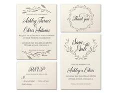 Imprimibles boda invitación Suite Floral por PrintableWisdom