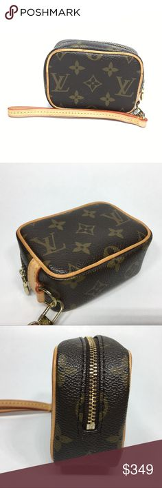 7bf826d3e678 Vintage Louis Vuitton coin wristlet purse wallet Gently used condition with  normal signs of wear Louis Vuitton Bags Clutches   Wristlets