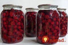 Perfektný tip ako si uľahčiť zaváranie. Pickles, Winter, Beans, Canning, Fruit, Vegetables, Food, Gelee, Cherries