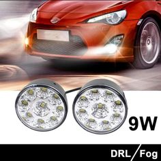 Shien(TM)2 pcs 9 LED Round Daytime Running Light DRL Driving Car -- Awesome products selected by Anna Churchill