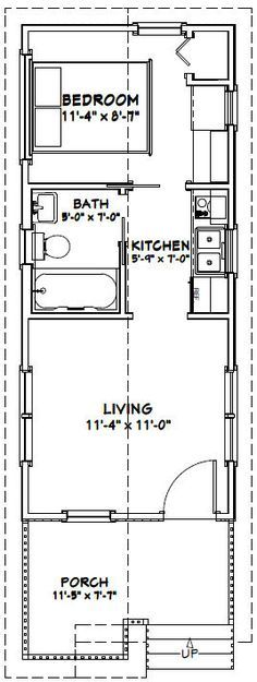 12x28 1 Bedroom House -- #12X28H1 -- 336 sq ft - Excellent Floor Plans