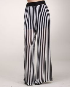 Alexandra says: Pinstripes are always a classic element in any wardrobe and the silhouette of these is perfectly and ladylike. Chiffon Pants, Amy, Silhouette, Classic, Fashion, Derby, Moda, La Mode, Silhouettes