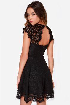 BB Dakota Rylin Black Lace Dress at Lulus.com!