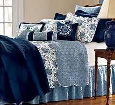 indigo blue bedding | Bedding and Bath Decorative Accessories Furniture Lighting Rugs ...