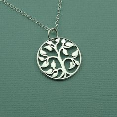 Small Tree Of Life Necklace - 925 sterling silver -tree pendant charm jewelry - zen gift. $39.00, via Etsy.