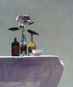 Pink Hydrangea. 80 x 70 cm, oil on board. Susan Ashworth