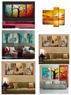 Multi Canvas Painting, Living Room Canvas Painting, Canvas Paintings For Sale, 3 Piece Canvas Art, Large Canvas Art, Hand Painting Art, Large Wall Art, Art Paintings, Modern Paintings