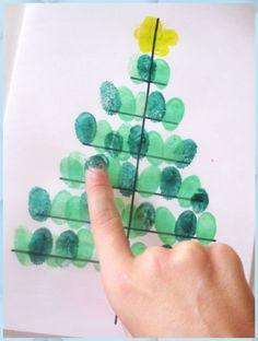 Christmas Tree Crafts, Diy Christmas Cards, Christmas Activities, Xmas Cards, Kids Christmas, Handmade Christmas, Holiday Crafts, Cards Diy, Greeting Cards