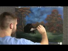 Paint with Kevin Hill - Evening Cabin wet on wet HD Oil Painting Lessons, Painting Videos, Painting Techniques, Kevin Hill Paintings, Bob Ross Paintings, Watercolor Landscape Paintings, Landscape Drawings, Acrylic Paintings, Landscapes
