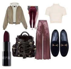 """""""Untitled #18"""" by crissmiss on Polyvore featuring Temperley London, Gucci and Staud"""