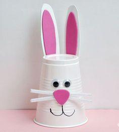 #Easter Craft for Kids - #Bunny Cup http://www.kidsdinge.com https://www.facebook.com/pages/kidsdingecom-Origineel-speelgoed-hebbedingen-voor-hippe-kids/160122710686387?sk=wall