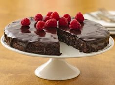 1 box (16 oz) Betty Crocker® Gluten Free brownie mix 1/4 cup butter, melted 2 eggs 1/3 cup whipping cream 1/2 cup semi-sweet chocolate chips 1 cup fresh raspberries or sliced strawberries  1. Heat oven to 350°F. Spray bottom only of 8-inch springform -After a great meal, enjoy an e-cigarette with your prefered e-liquid flavor at www.e-cigarilicious.com #ecigarette #eliquid #ecig #vaporizer