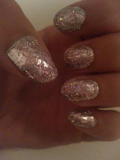 Zilver folie nagels/lak