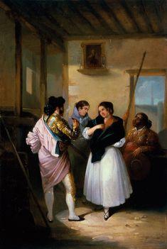 Joaquín Domínguez Bécquer: Maja y torero (1838) Colección Carmen Thyssen-Bornemisza en préstamo gratuito al Museo Carmen Thyssen Málaga
