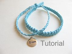 Knotted bracelet beginners macrame pattern tutorial pdf two in one blue how to jewelry instructions silver charm from Knotonlyknots on Etsy. Saved to DUB.