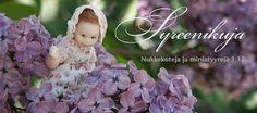 Syreenikuja - nukkekoteja ja miniatyyrejä Girls Dresses, Flower Girl Dresses, Wedding Dresses, Miniatures, Dolls, Fashion, Dresses Of Girls, Bride Dresses, Baby Dolls