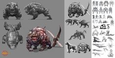 Hellgate:London creature study by HOON.deviantart.com on @deviantART