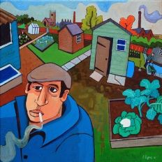 Chris Cyprus allotment painting