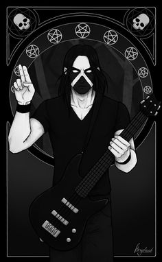 Hubbath by Katerina Nerobova Metalhead, Death Metal, Metal Bands, Black Metal, Goth, Comics, Wallpaper, Funny, Anime