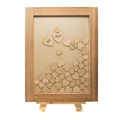 Personalised Wooden Hearts Wedding Guest Book by Well Personalised | giftwrappedandgorgeous.co.uk